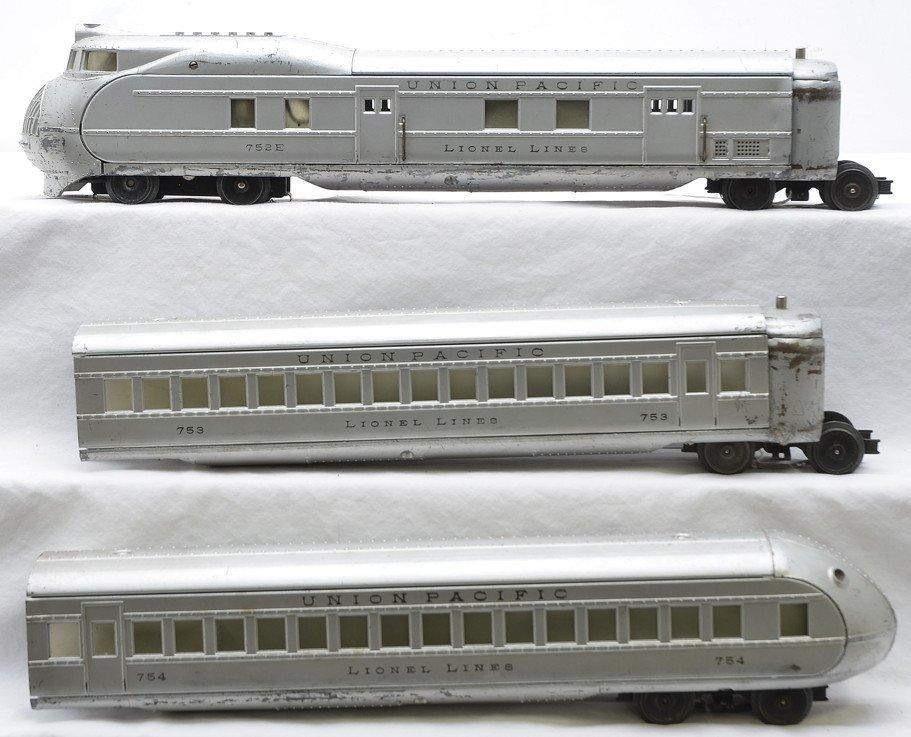 Lionel Aluminum UP Streamliner Pass Set no. 751E