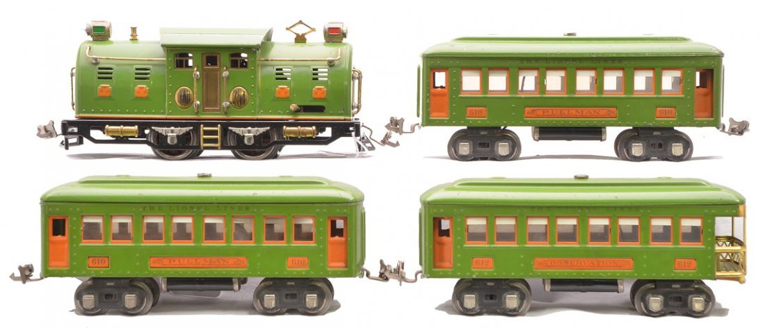 Lionel Pea Green Passenger Set no. 266