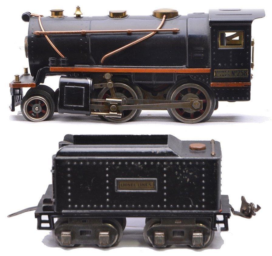 Lionel 258 Black Steam Loco 262T Tender