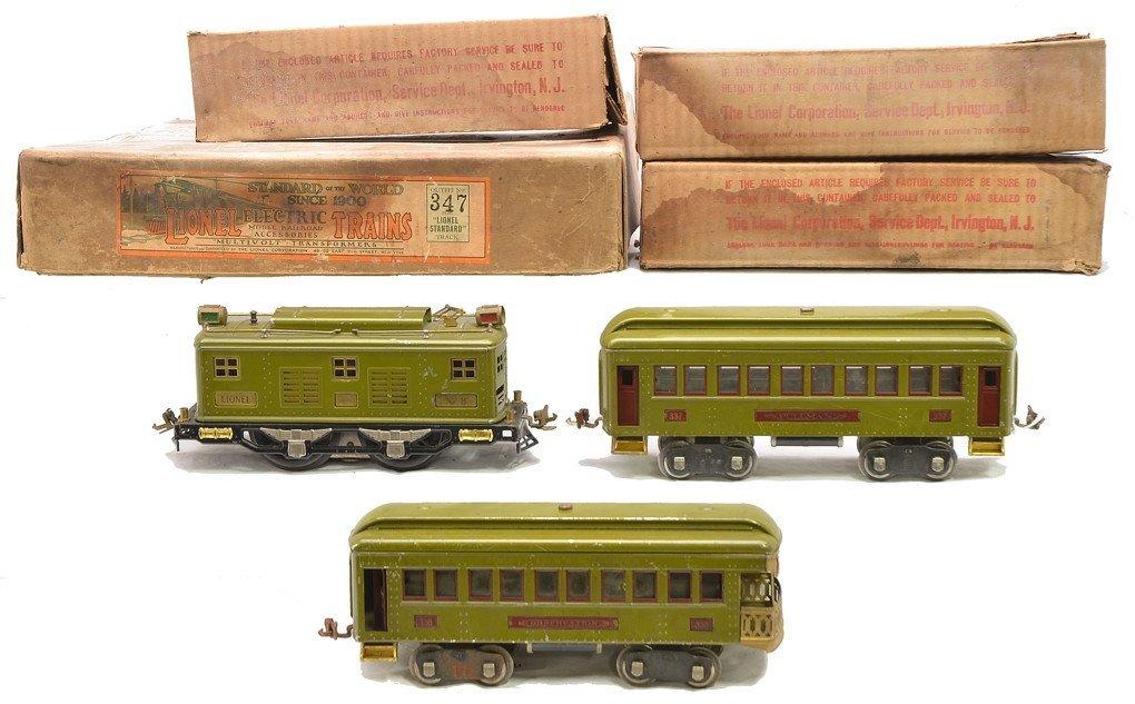 Lionel Olive Green Passenger Set no. 347