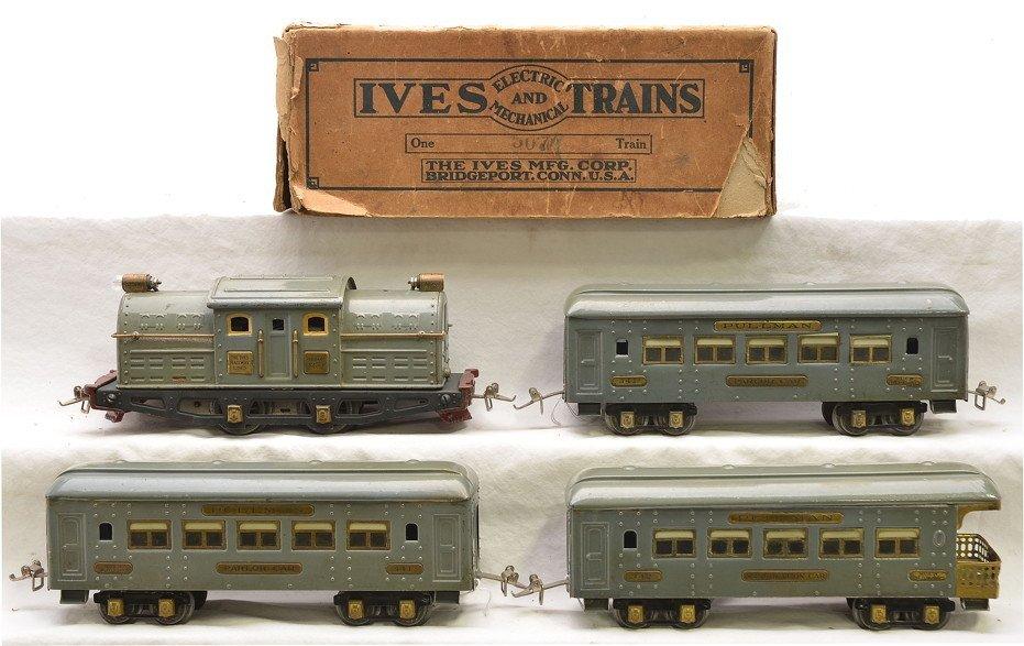Ives Gray Greyhound Pass Set no. 507R in Set Box