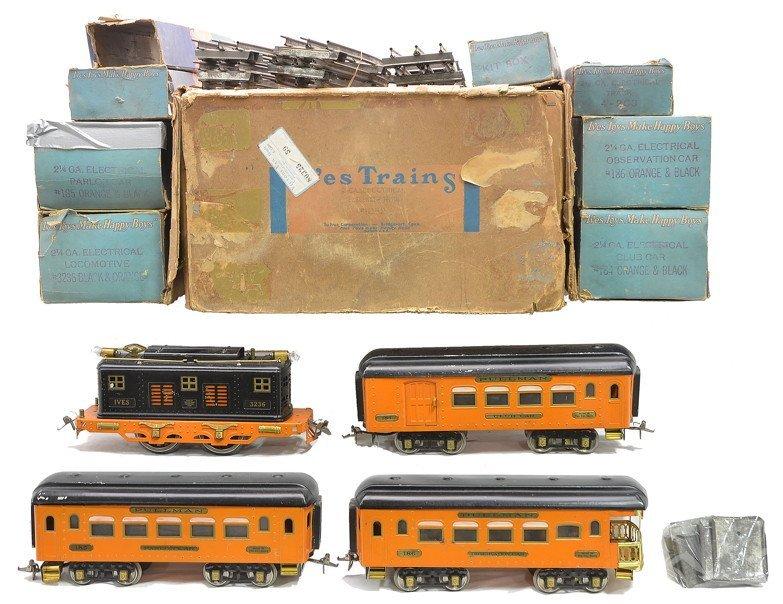 Ives Wide Ga. Orange/Black Passenger Set 1082