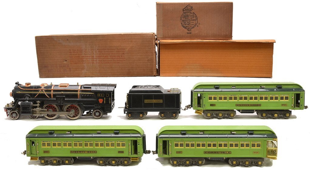 Lionel Std. Ga. 2-Tone Green Pass Set no. 372E
