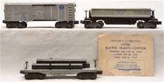 Lionel Postwar Freight Cars 2411 3454 3459