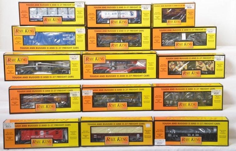 15 Railking cars Army, N&W 75200, 7299, 76149, etc