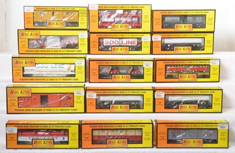 15 Railking cars Soo, UP, Rio Grande, 7234, 75121,