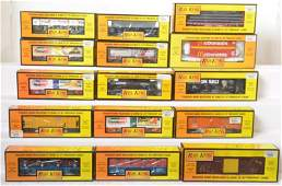 15 Railking freight cars 72032 76162 7312 etc