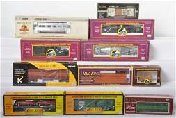 11 MTH and K Line cars hot metal scale test car etc