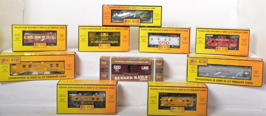 10 Railking freight cars 7514, 7916, 7916, etc