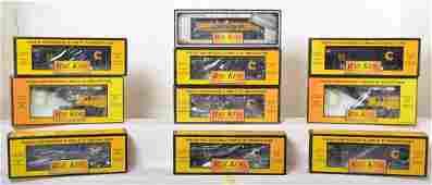 10 Railking Chessie freight cars 8105 7514 7916 etc