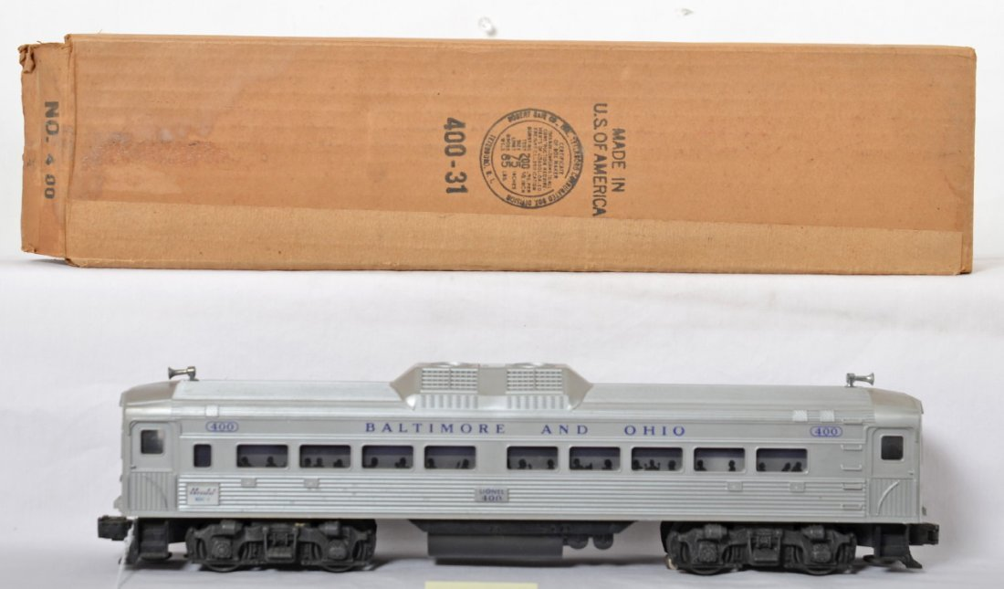 Lionel No. 400 Budd RDC-1 powered unit in OB w/insert