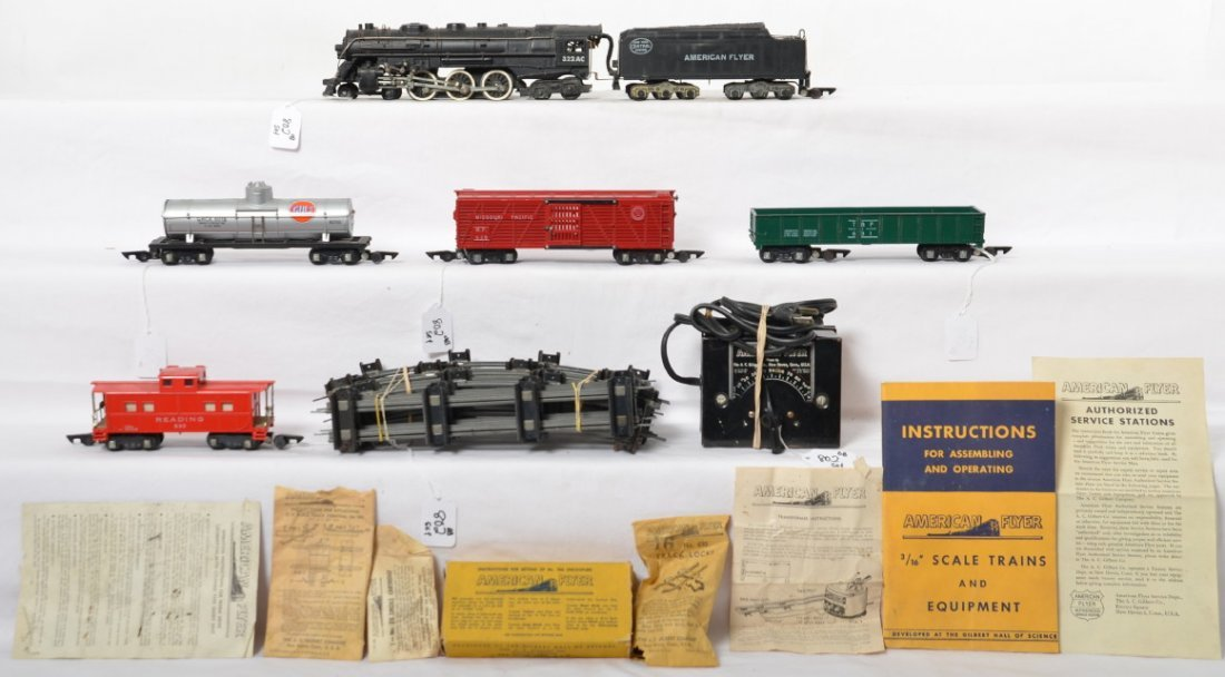 American Flyer 5106-T Hudson steam freight set in OB