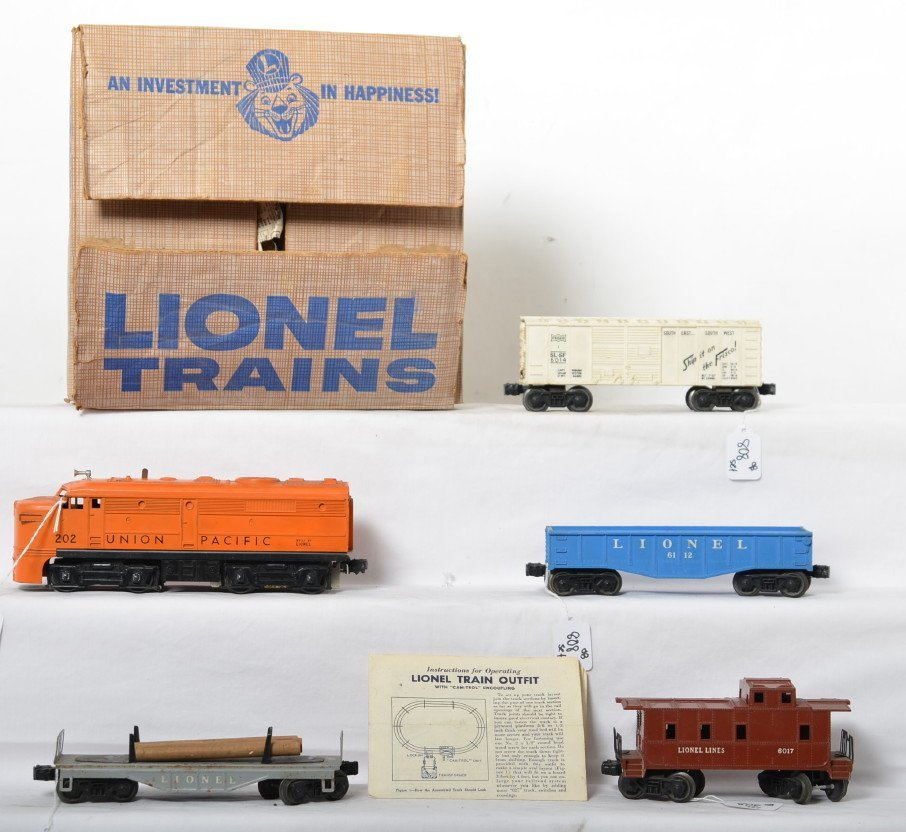 Lionel 1569 UP Alco diesel freight set in OB