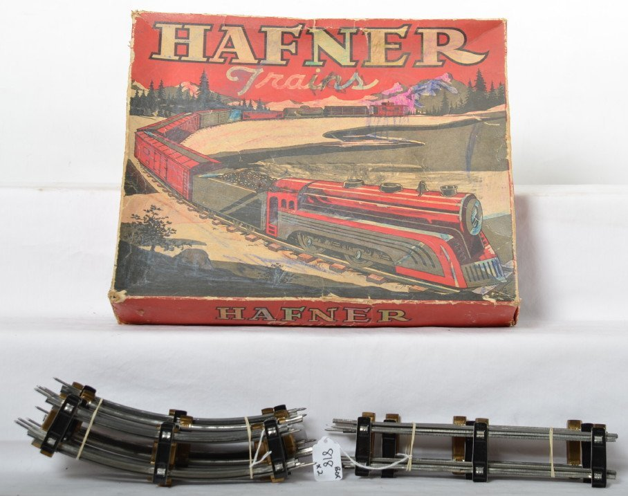 Hafner Trains No. 720 set box with dividers and track