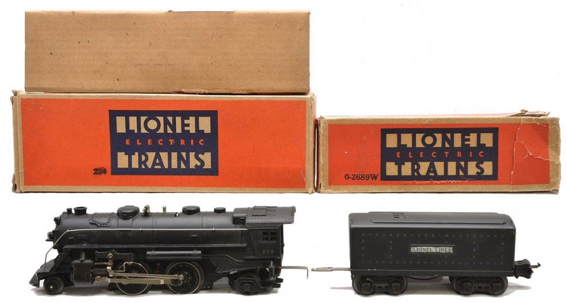 Lionel 229 Steam Loco 0-2689W Tender Boxed