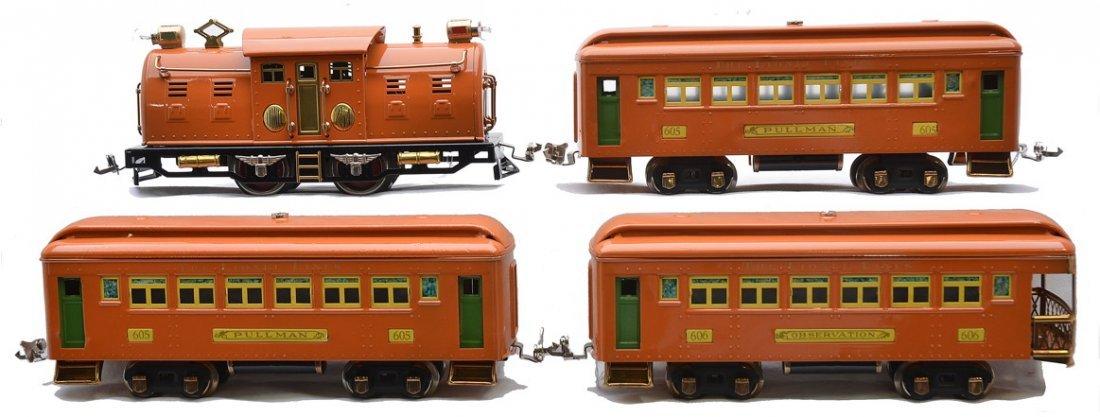 Lionel Prewar Orange Passenger Set no. 142