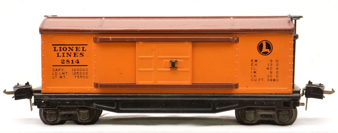 Lionel 2814 Orange Rubber-Stamped Boxcar