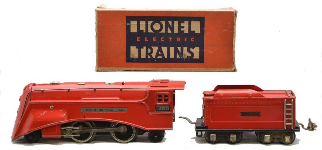 Lionel 264E Red Comet Loco 261T Tender