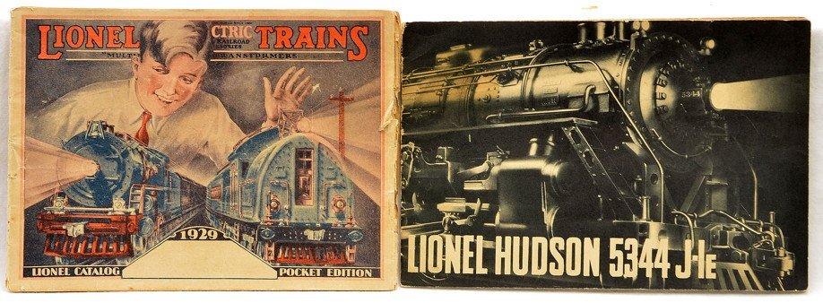 Lionel Original 1929 Pocket Catalog 700E Booklet