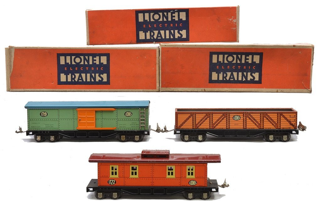 Lionel Litho Freight Cars 1717 1719 1722 OBs