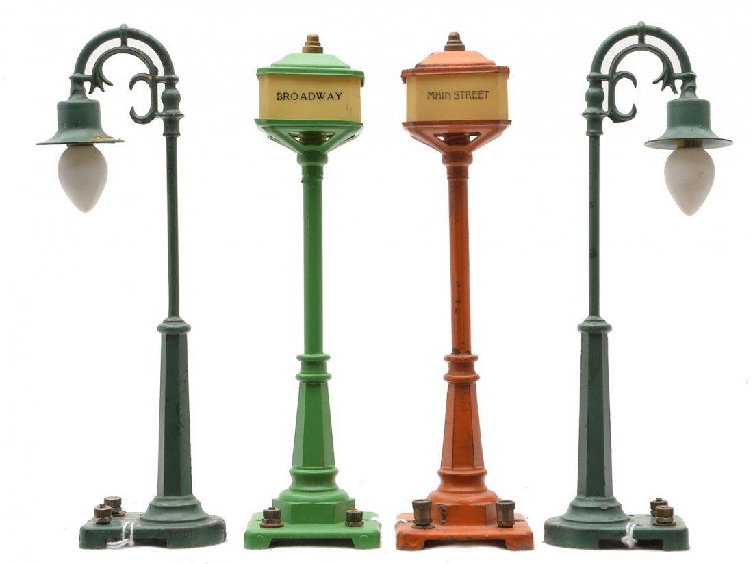 Lionel 57 Orange 57 45N Green two 58 Lamp Post