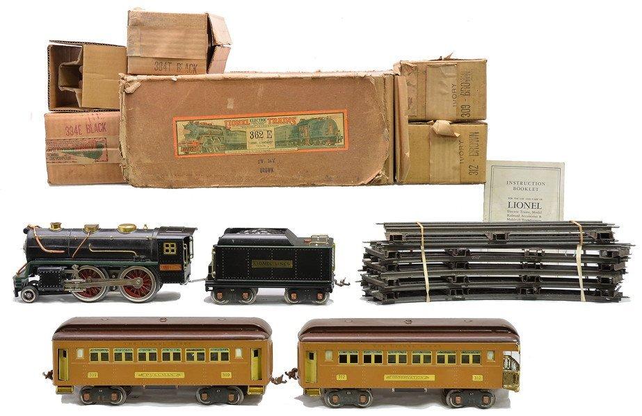Lionel 2-Tone Brown Passenger Set no. 362E