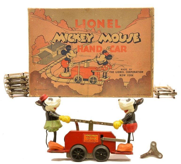 Lionel 1100 Mickey/Minnie Hand Car OB 1101