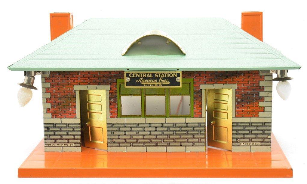 AF 102 Litho Central Station Green Crackle Roof