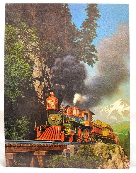Print of a General Train Set  Paul Detlefsen 1969