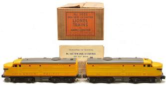 Lionel 2023 UP Yellow and Gray AA Alcos Boxed