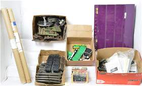 Large group of dealer posters, switches, diecast....