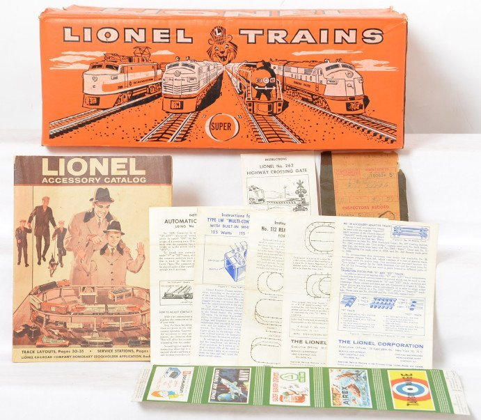 Tough Lionel 2544W orange Santa Fe set box only