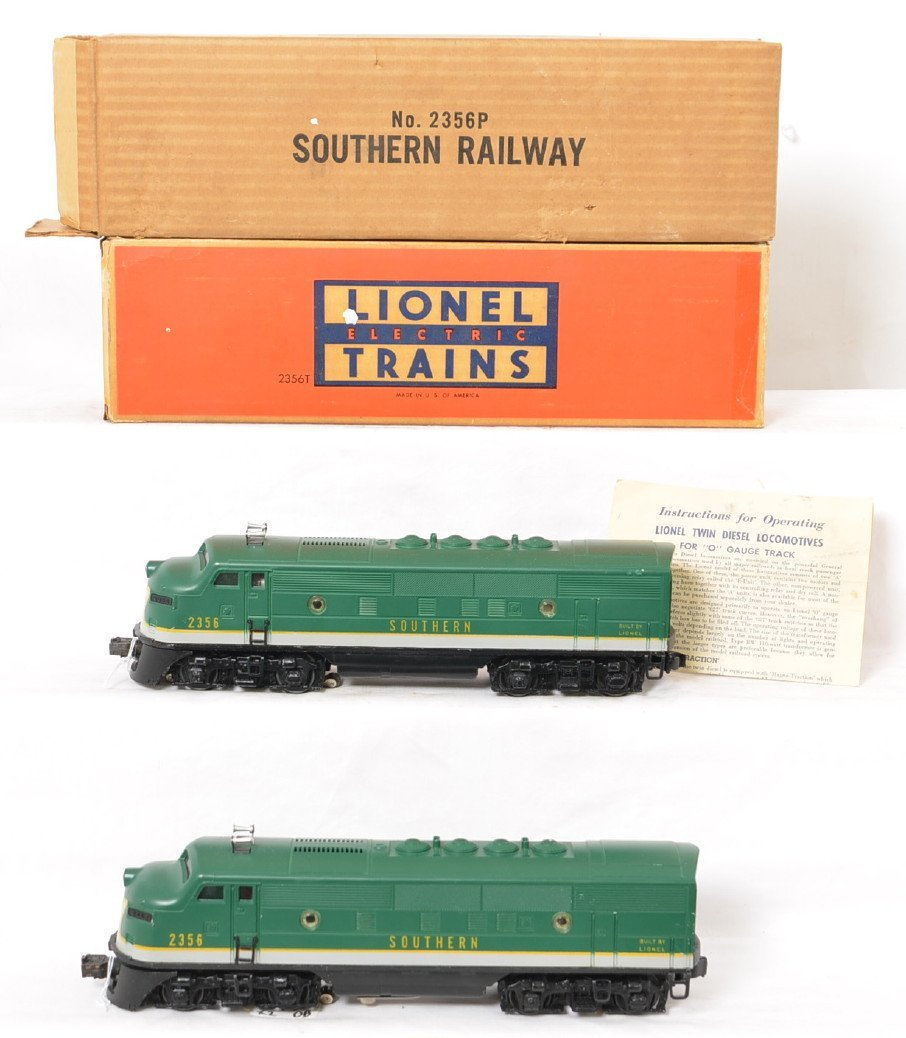 Lionel 2356 Southern F3 AA units in OB