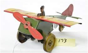 Strauss Tin Clockwork Mailplane