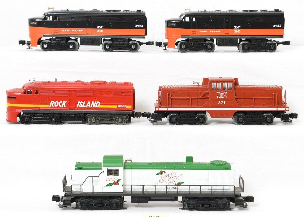 5 Lionel locos 8922, 8923, 8563, 371, etc
