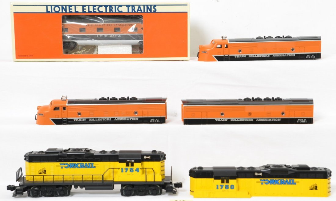 TCA F-3 shells, York Rail GP-9 passenger car and more