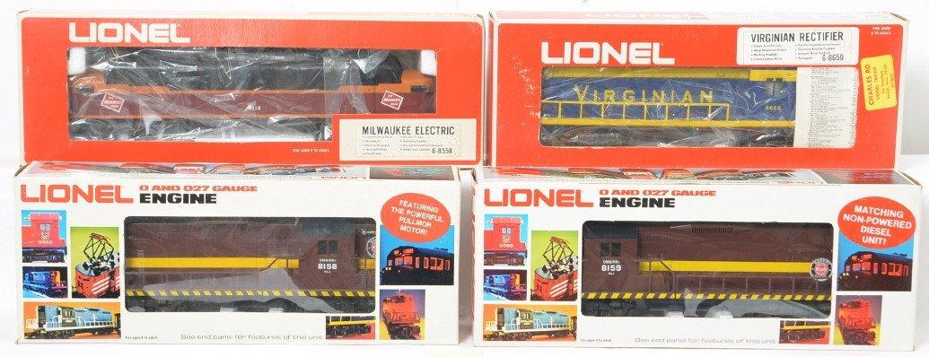 4 Lionel locos 8558, 8659, 8159, 8158 DM&IR, Virginian,