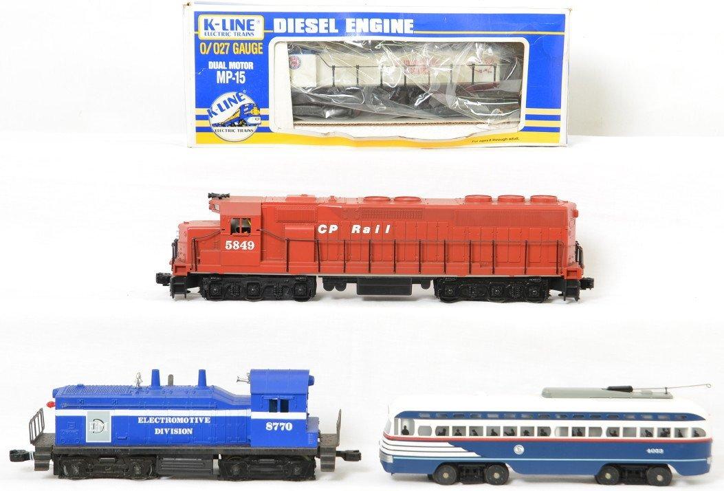 Lionel, Williams, K Line and Railking locos, CP Rail,