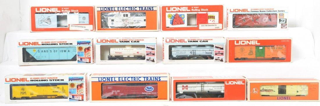 12 Lionel TCA, LCCA, TTOS freight cars 6926, 9347, etc