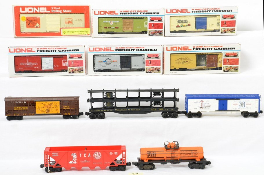 11 Lionel TCA Museum and convention cars