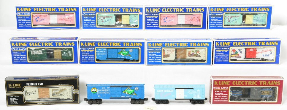 12 K Line TCA and other freight cars