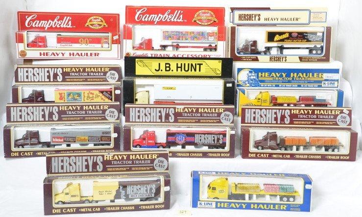 11 K Line Heavy Hauler semi trucks Hershey, JB Hunt,