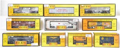 10 Railking freight cars 73331 75266 7612 etc