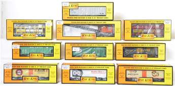 10 Railking freight cars 7559 78076 79090 etc