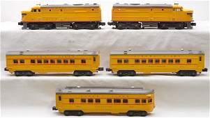 Lionel Yellow/Gray Anniversary Pass Set 1464W