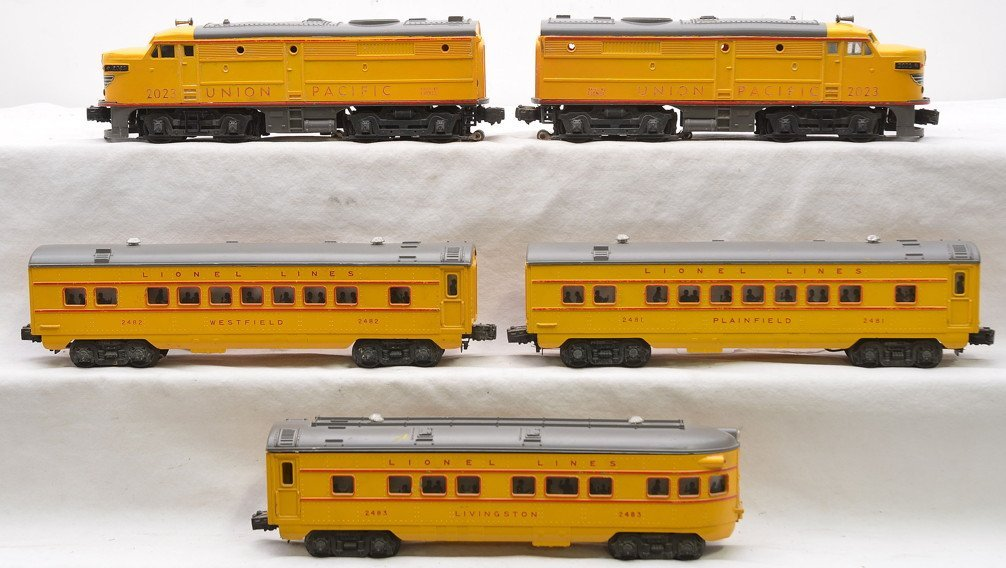 Lionel Yellow/Gray Anniversary Pass Set 1464W