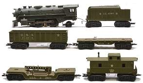 Marx Olive Drab Military Train Set no. 52975