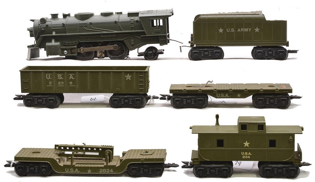 Marx Olive Drab Military Train Set no. 52975