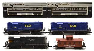 K-Line B&O Diesels Pass Cars SP Diesel Caboose