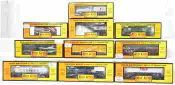 10 Railking freight cars Esso Texaco Erie etc